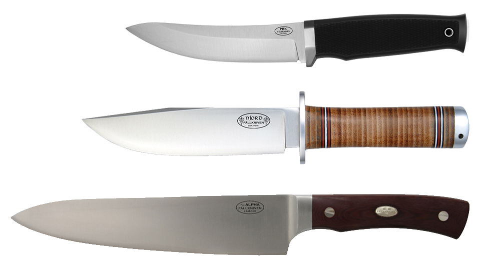 Fallkniven noževi Alpha, NL3 i PHK od 3G laminiranog čelika